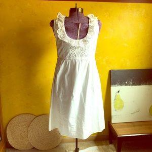 J crew white sleeveless dress